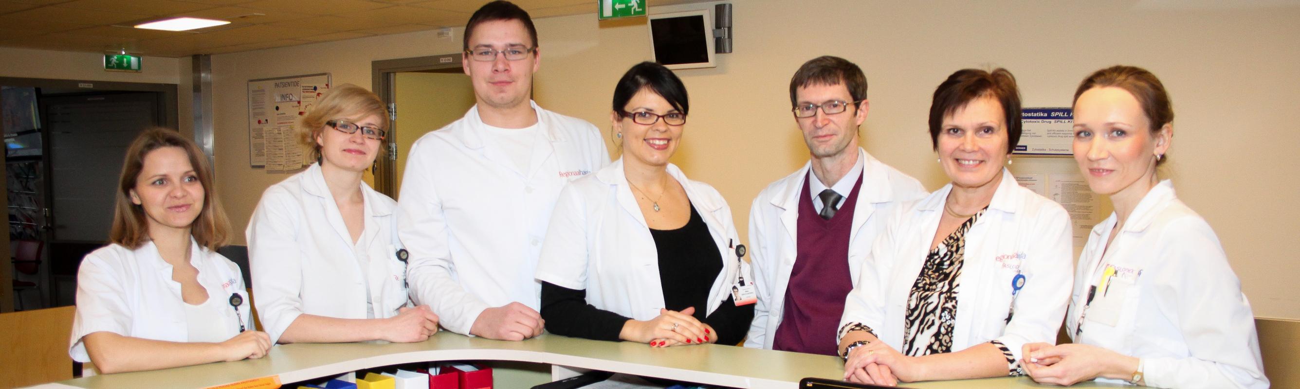 Keemiaravi osakonna sõbralik meeskond