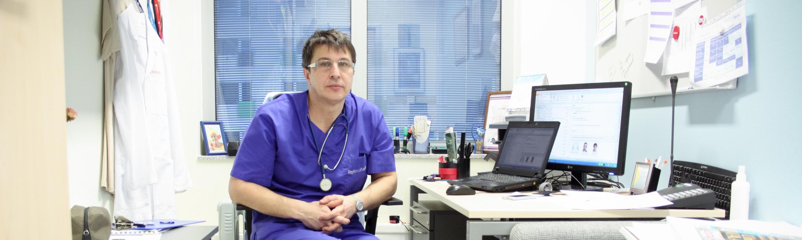 Operatsioonikeskuse juhataja dr Sergei Kagalo.