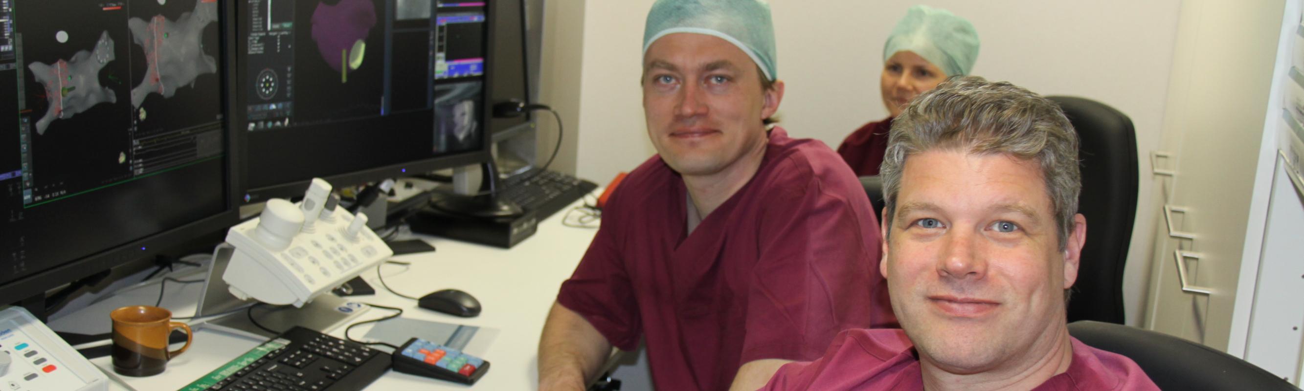 Dr Priit Kampus ja elektrofüsioloog dr Erik Wissner Euroopa suurimast südame rütmihäirete kateeterablatsiooni keskusest Saksamaalt