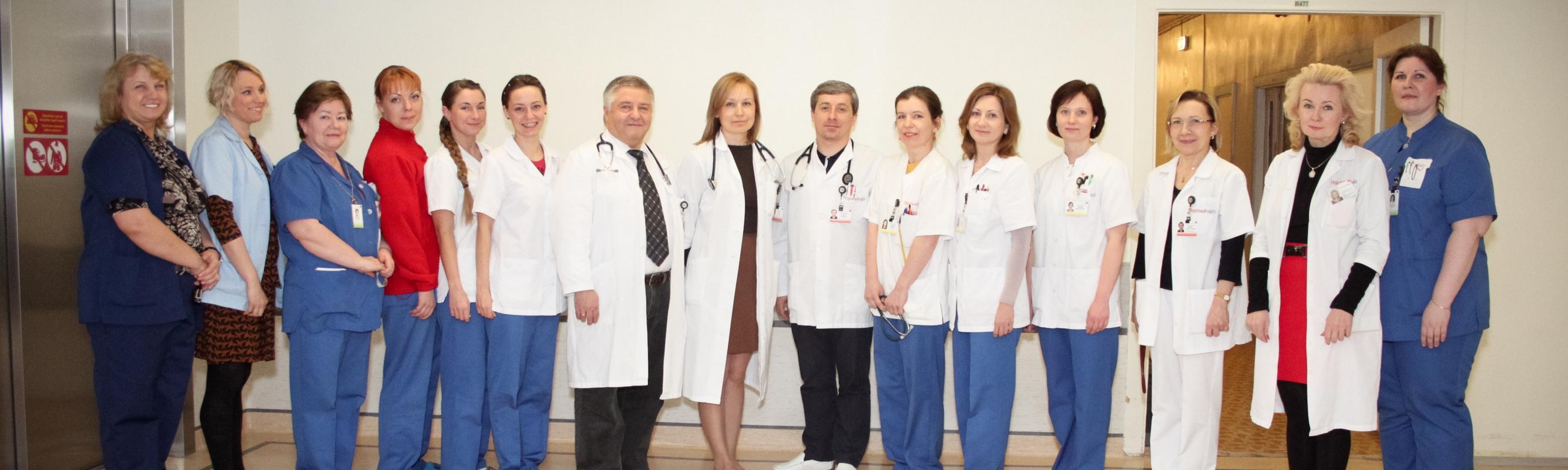 II kardioloogia osakonna töökas kollektiiv