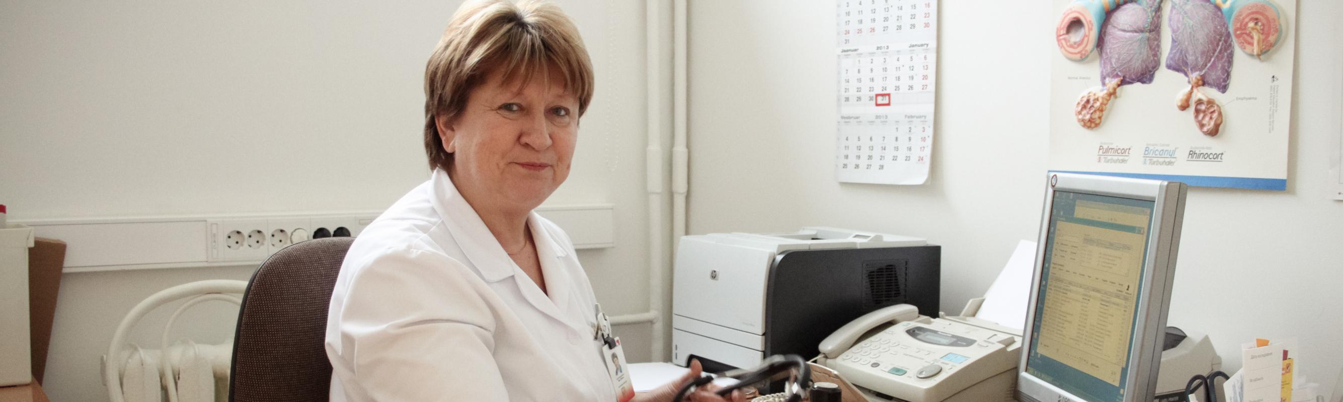 Pulmonoloog dr Mari Meren polikliiniku vastuvõtul