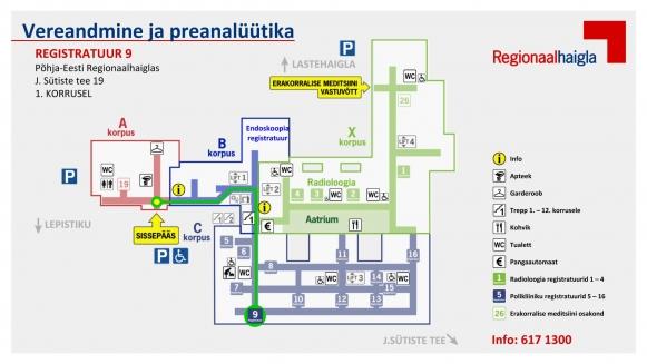 Polikliinikute teekonnakaardid registratuur 9 vereandmine ja preanalüütika